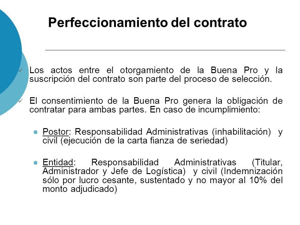 Perfeccionamiento del contrato La Entidad sólo se puede negar a suscribir el contrato por: Recorte presupuestal sobre el objeto materia del proceso Norma expresa Desaparezca la necesidad