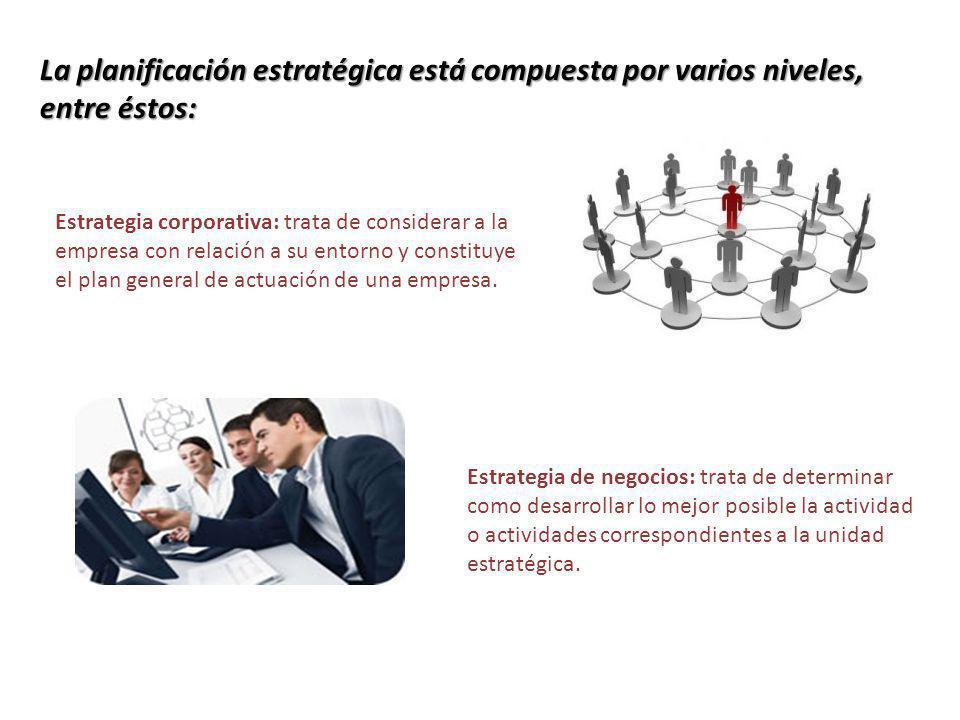Estrategia funcional: trata de cómo utilizar y aplicar los recursos y habilidades dentro de cada área funcional, actividad o unidad estratégica.