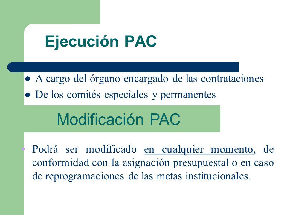Usuarios definen requerimientos Consolidación de cuadro de necesidades SEACE LOCAL Y WEB DE LA ENTIDAD Elaboración del PAC Aprobación de PIA Difundir: