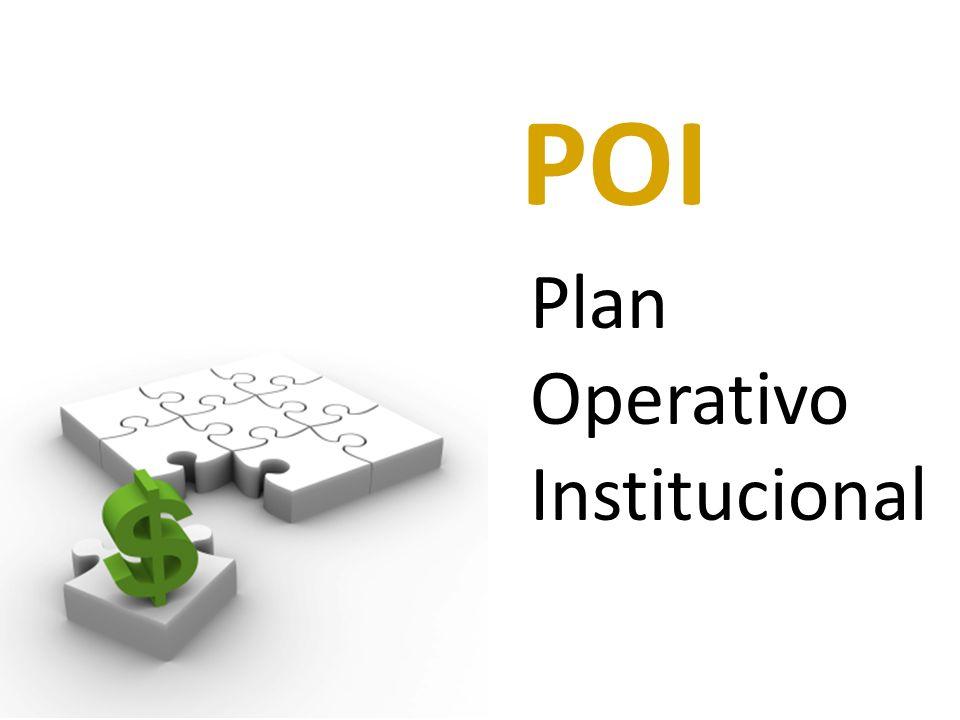 Plan Operativo Institucional POI
