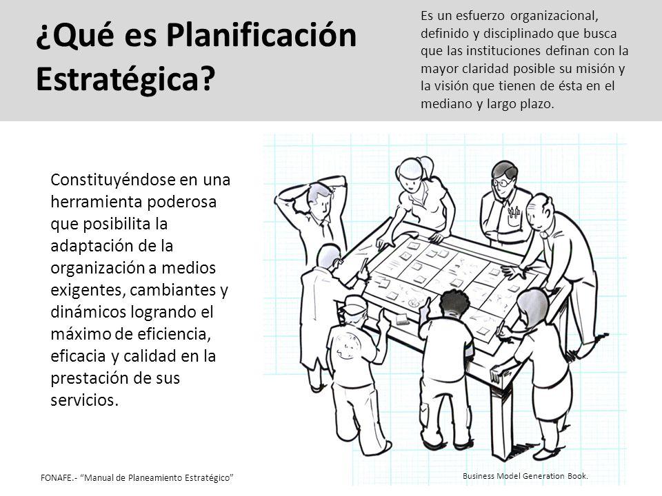 ¿Qué es Planificación Estratégica? Business Model Generation Book. Constituyéndose en una herramienta poderosa que posibilita la adaptación de la orga
