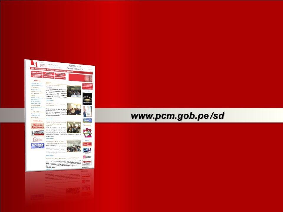 www.pcm.gob.pe /sd www.pcm.gob.pe /sd