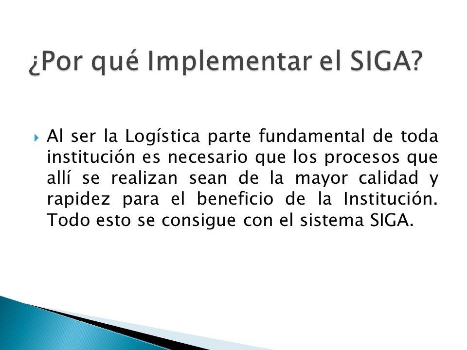 Al ser la Logística parte fundamental de toda institución es necesario que los procesos que allí se realizan sean de la mayor calidad y rapidez para e