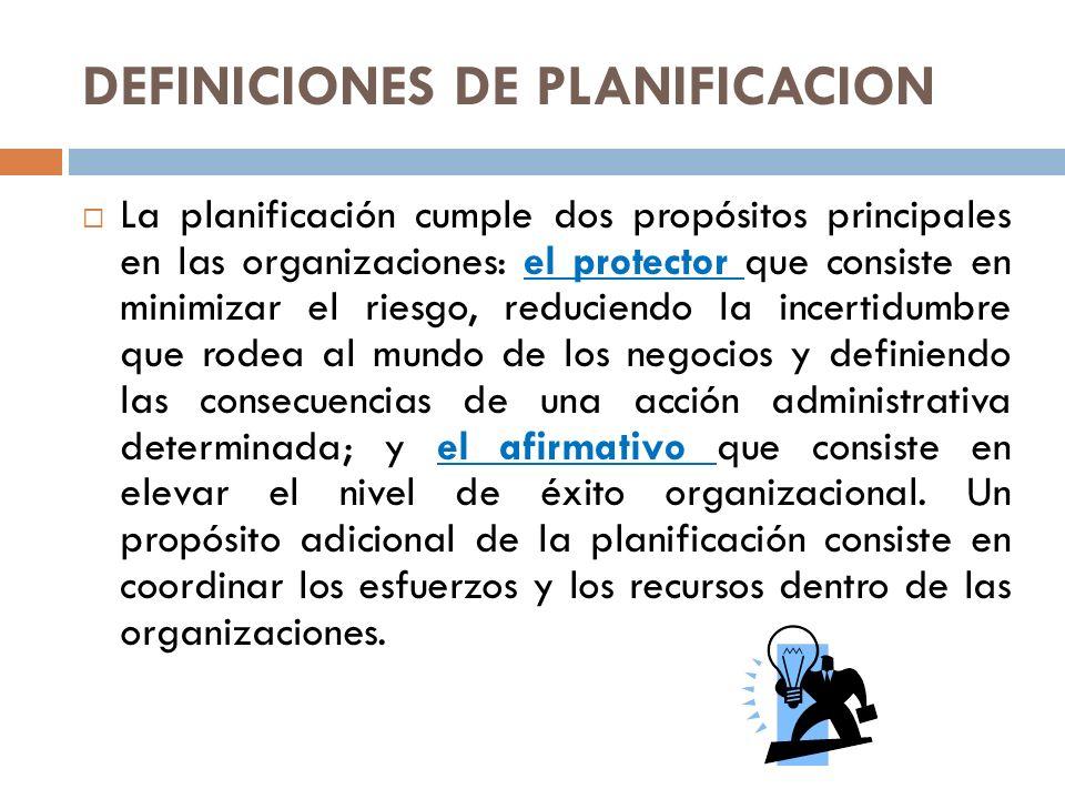 PRINCIPIOS DE LA PLANIFICACIÓN Para que la planificación sea efectiva, es preciso tener en consideración los siguientes principios: Precisión: Los planes no deben hacerse con afirmaciones genéricas, sino con la máxima precisión posible, por que están destinados a regir acciones concretas.