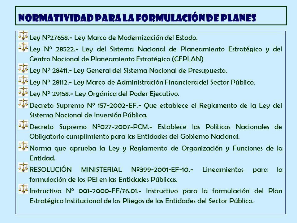 Ley N°27658.- Ley Marco de Modernización del Estado.