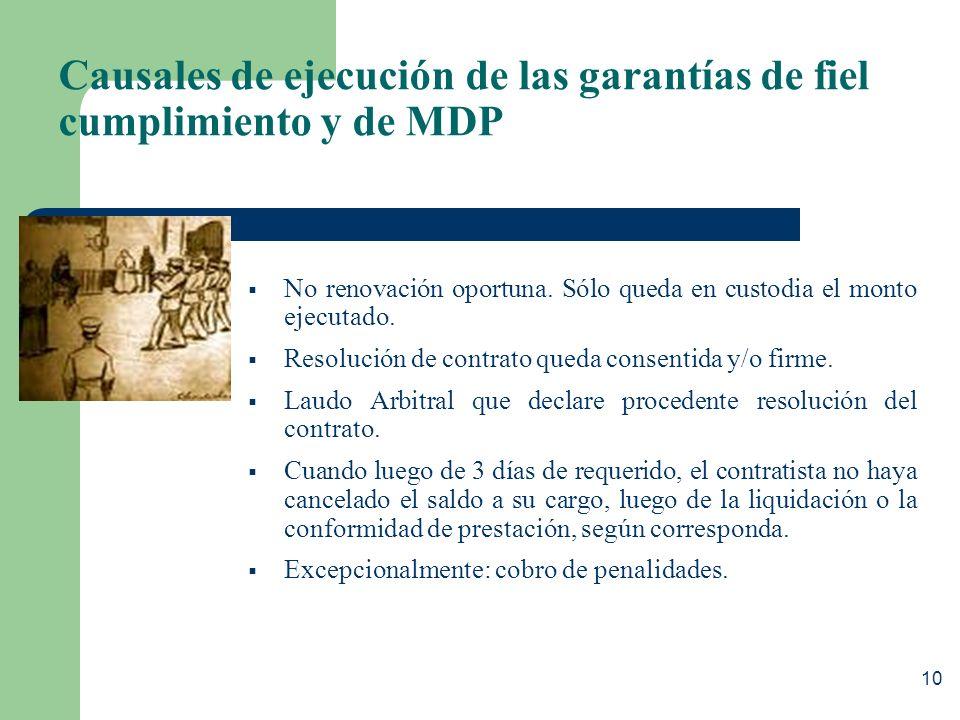 Clases de Garantías Las garantías pueden ser: Pre-contractuales: - Garantía de seriedad de oferta. - Por recurso de apelación Contractuales: - Fiel cu