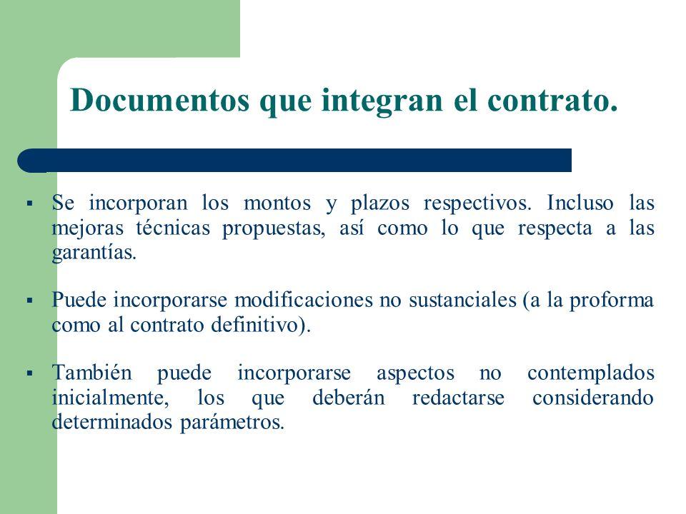 6 Documentos que integran el contrato. El texto que lo contiene. Las Bases Integradas. La oferta ganadora, sólo en los aspectos vinculados a su propue