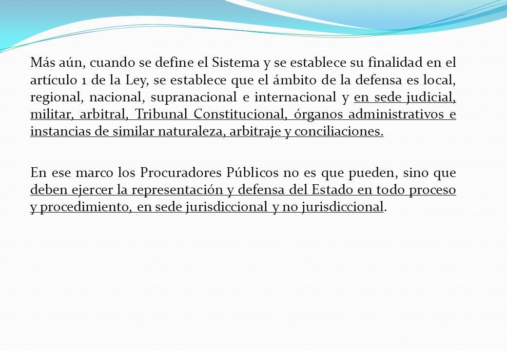 Más aún, cuando se define el Sistema y se establece su finalidad en el artículo 1 de la Ley, se establece que el ámbito de la defensa es local, region