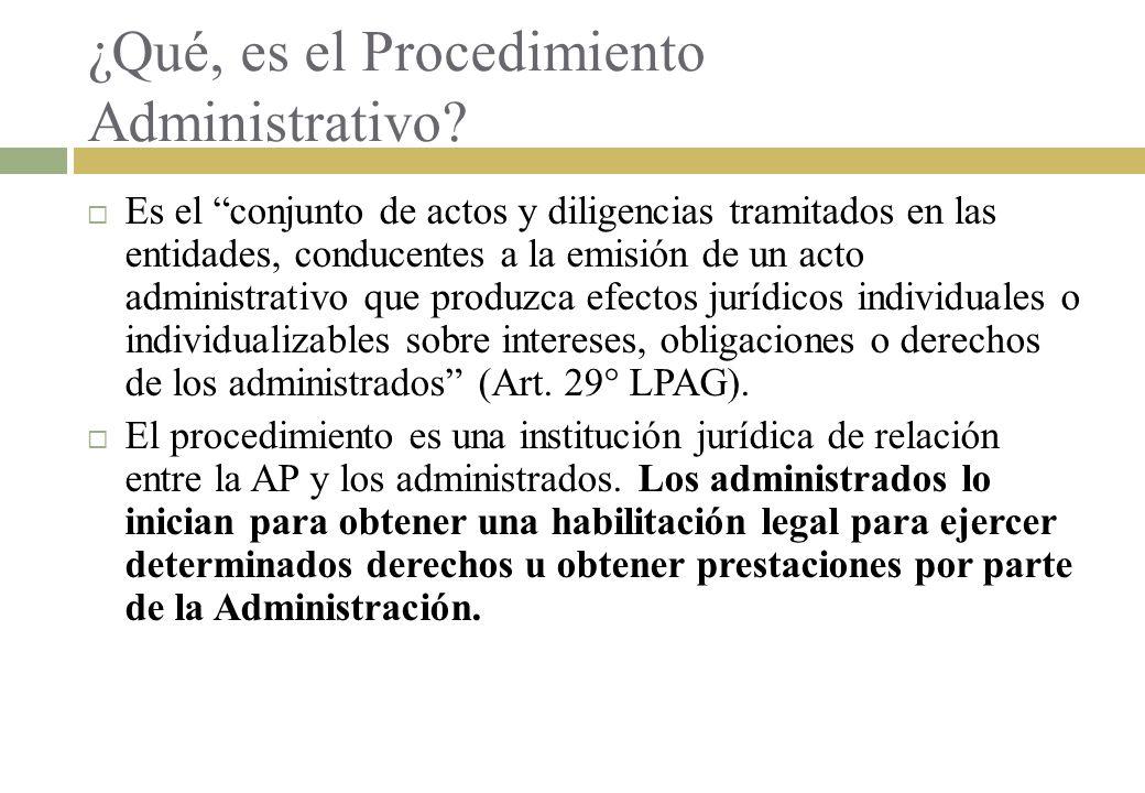 ¿Qué, es el Procedimiento Administrativo? Es el conjunto de actos y diligencias tramitados en las entidades, conducentes a la emisión de un acto admin