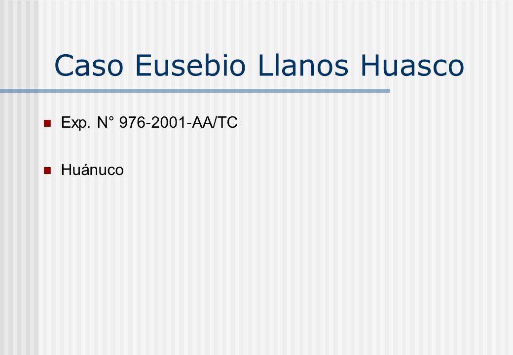 Caso Eusebio Llanos Huasco Exp. N° 976-2001-AA/TC Huánuco