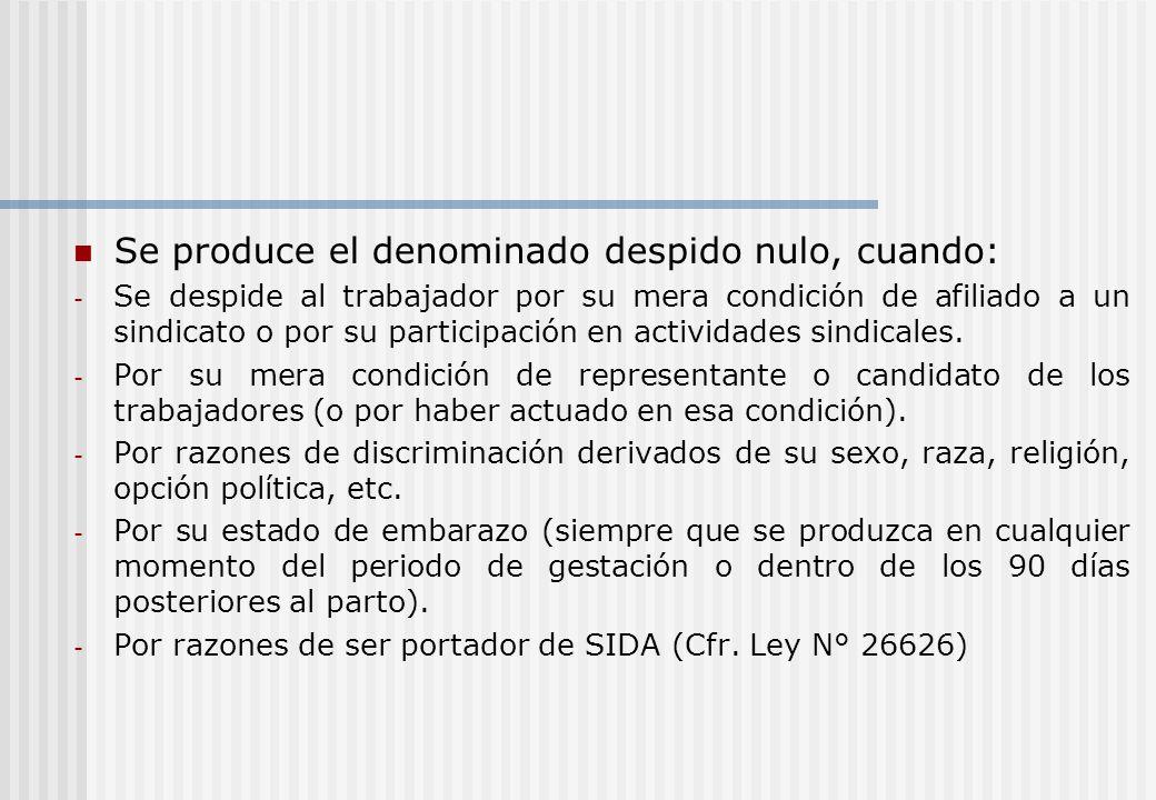 b) Despido incausado Aparece esta modalidad de conformidad con lo establecido en la sentencia del Tribunal Constitucional de fecha 11 de julio de 2002 (Caso Telefónica, Exp.