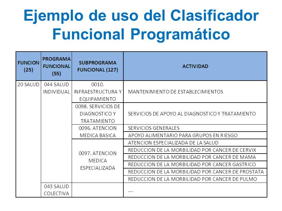 Ejemplo de uso del Clasificador Funcional Programático