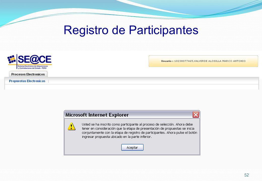 Registro de Participantes 52