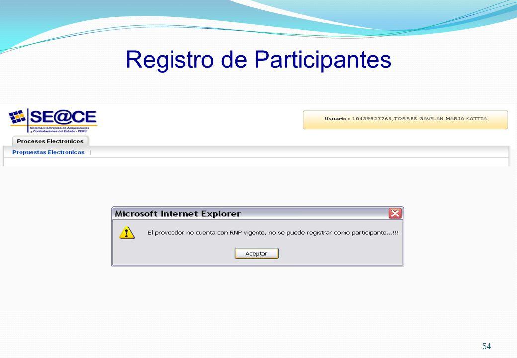 Registro de Participantes 54