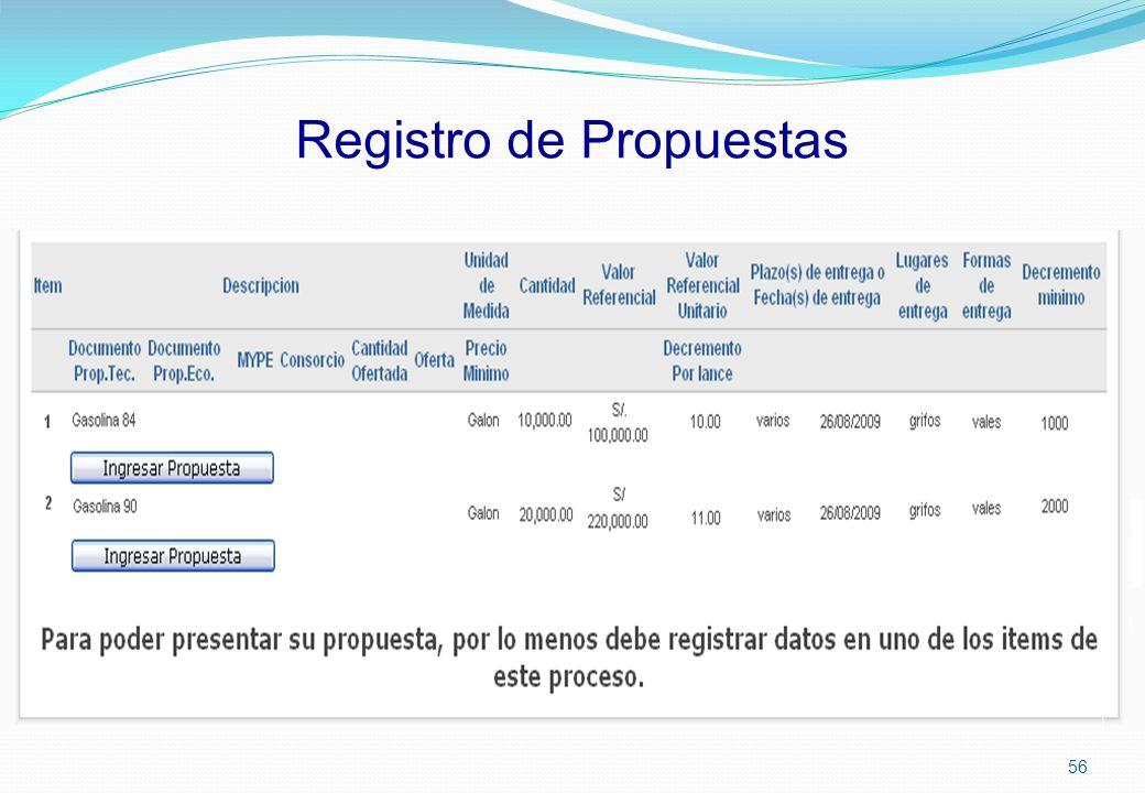 Registro de Propuestas 56