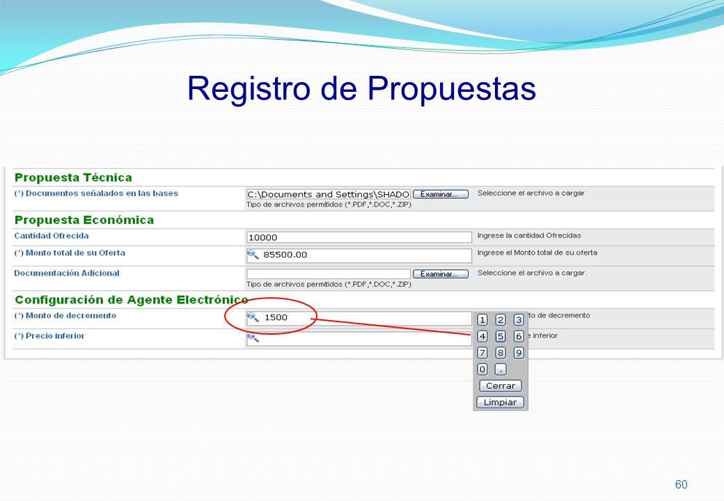 Registro de Propuestas 60