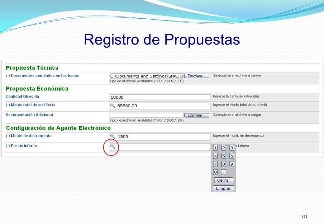 Registro de Propuestas 61