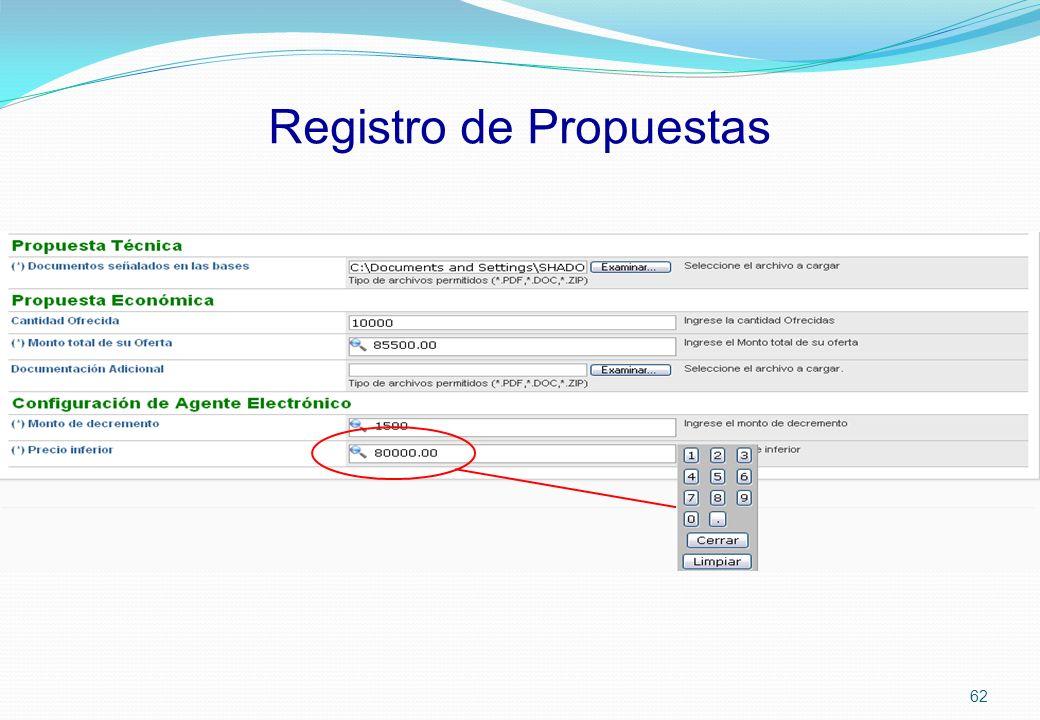 Registro de Propuestas 62