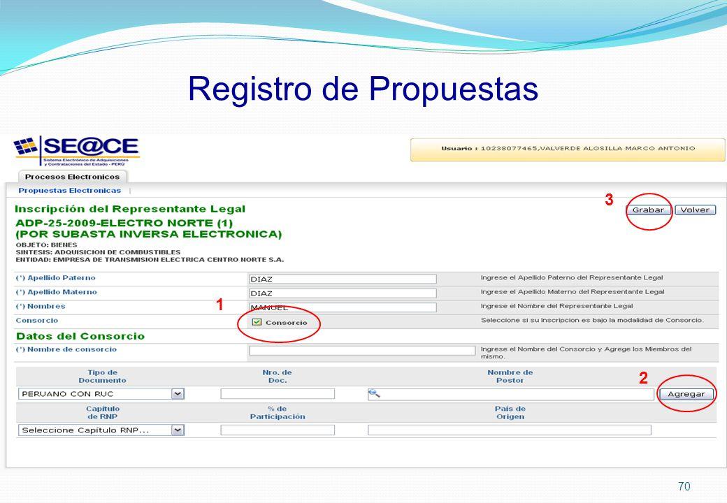 Registro de Propuestas 1 2 3 70