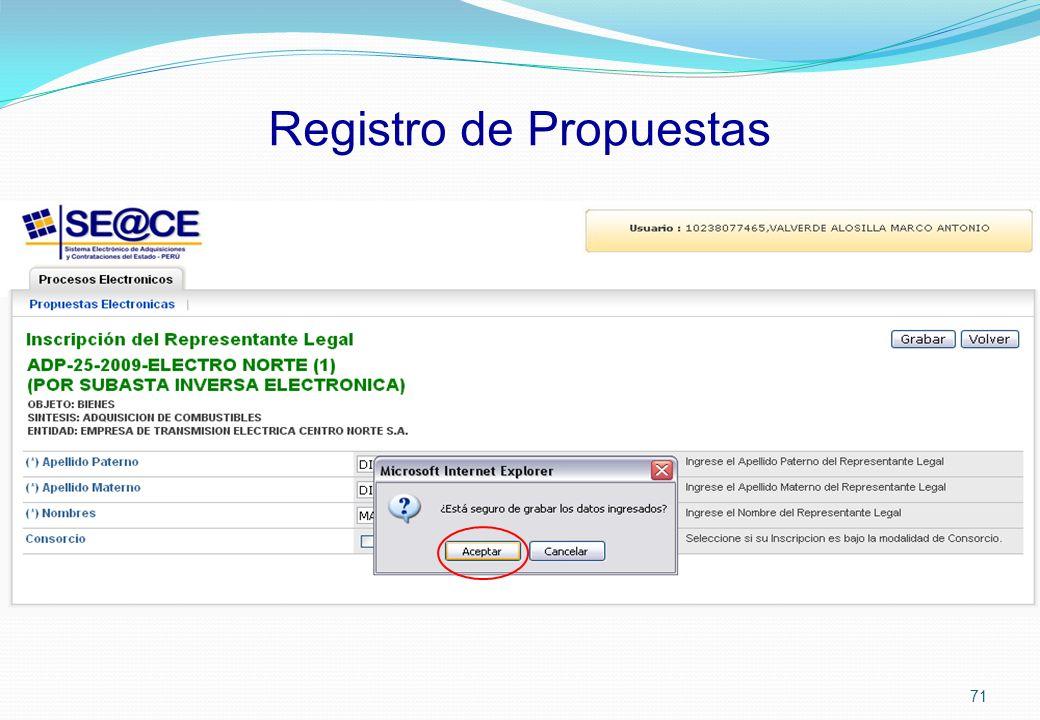 Registro de Propuestas 71