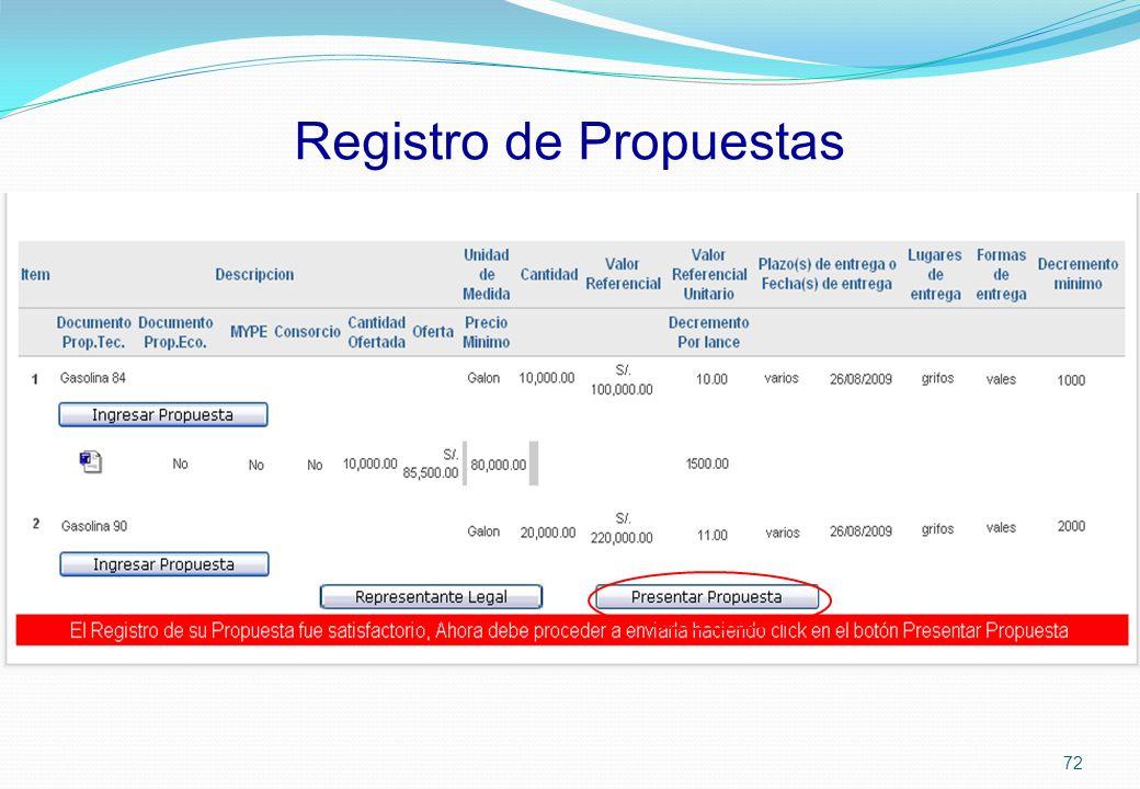 Registro de Propuestas 72