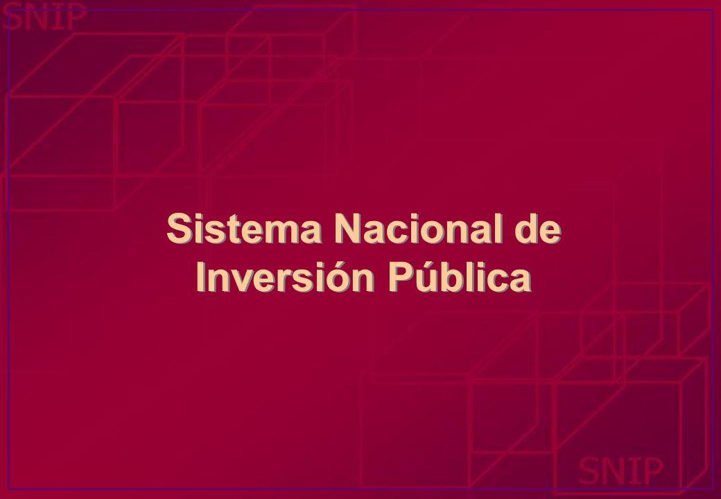 Montos de Inversión TIPO DE ESTUDIO INVERSION Perfil < S/.