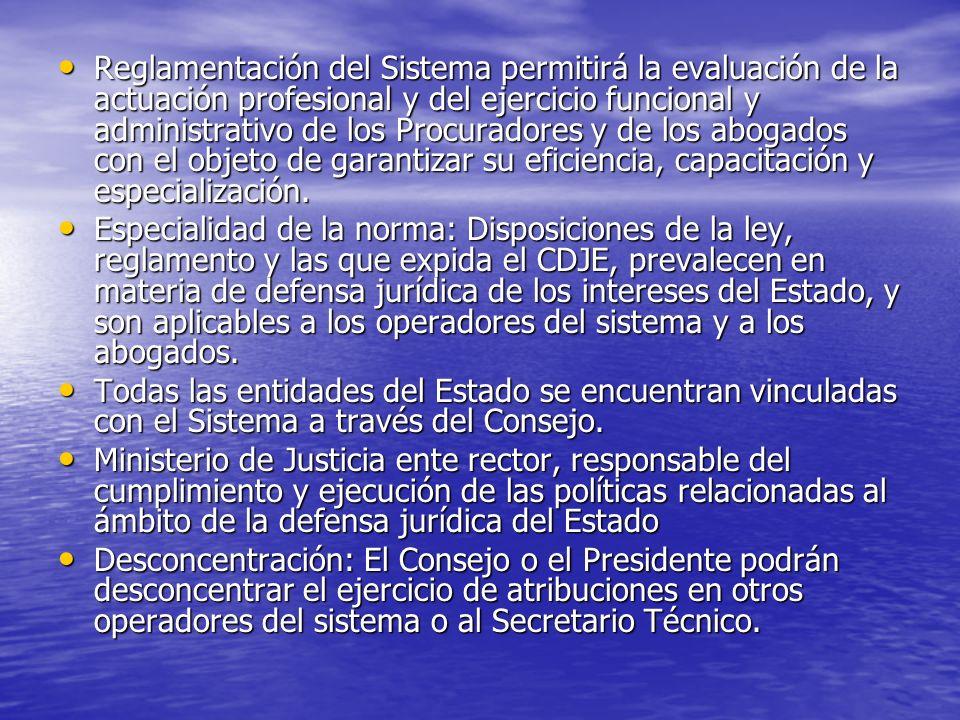 Reglamentación del Sistema permitirá la evaluación de la actuación profesional y del ejercicio funcional y administrativo de los Procuradores y de los