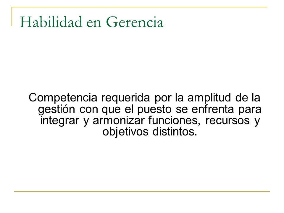 Habilidad Especializada Competencia requerida por la complejidad de la función y que se concreta en procedimientos prácticas, técnicas y experiencias.