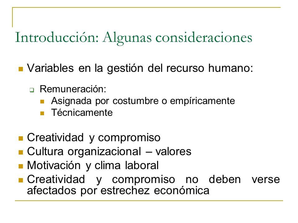 Introducción: Algunas consideraciones Organización competitiva – globalización Consumidores y administrados: derechos Potencial humano creativo y comp