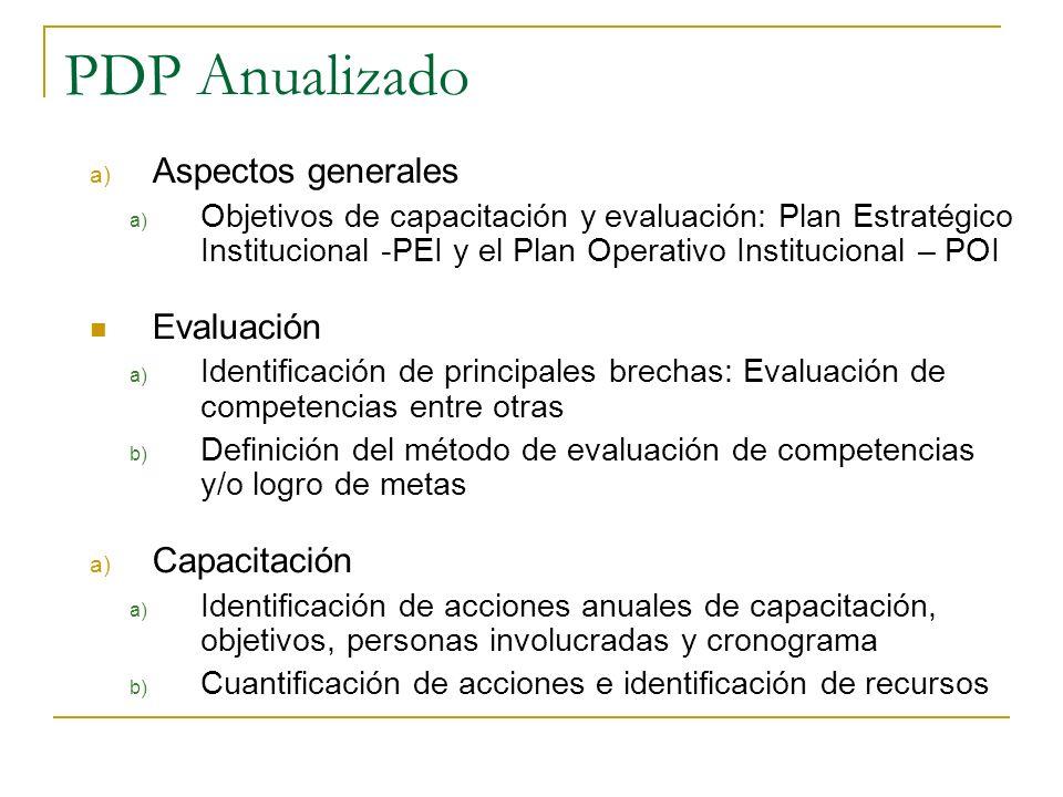 Plan DP Quinquenal: Componentes a) Misión, visión y objetivos estratégicos b) Competencias necesarias: personas de acuerdo a la función – resultados d