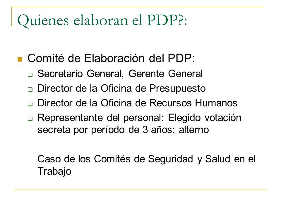 PDP Anualizado a) Aspectos generales a) Objetivos de capacitación y evaluación: Plan Estratégico Institucional -PEI y el Plan Operativo Institucional
