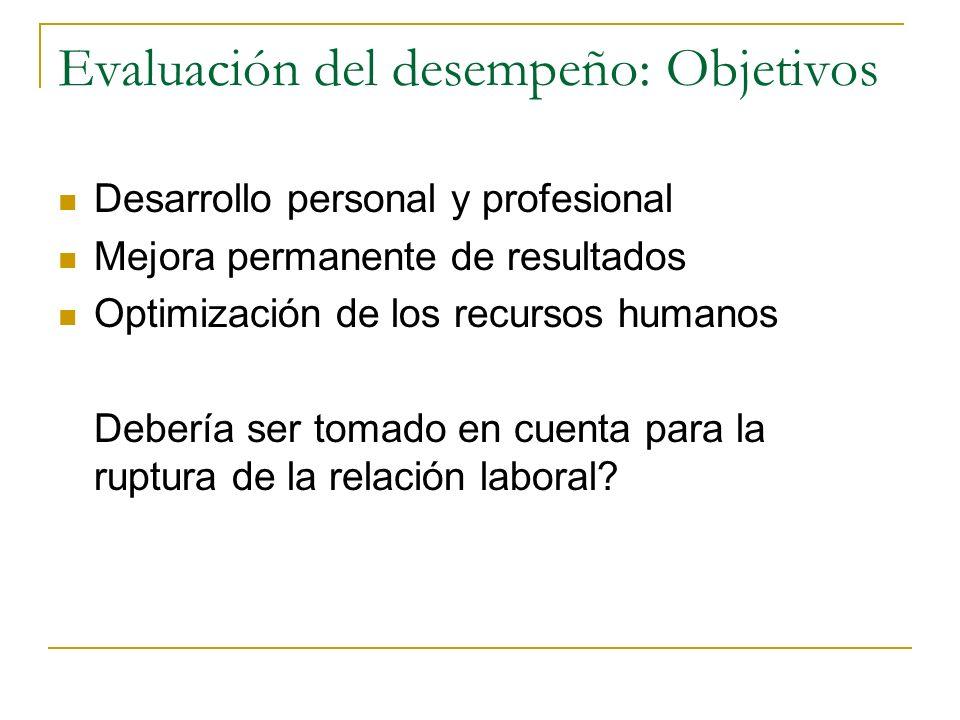 Aspectos a tomar en cuenta en la evaluación: Es objetiva y medible? Con que periodicidad? Se retroalimenta? Feed back Evaluación única o múltiple? Gen