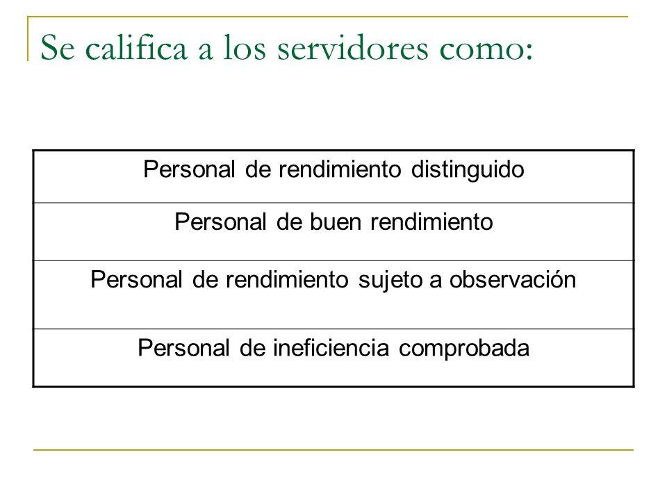 Reglas mínimas de la evaluación: Aplicado: En función a factores mensurables, cuantificables y verificables Abarca a todo el personal al servicio del
