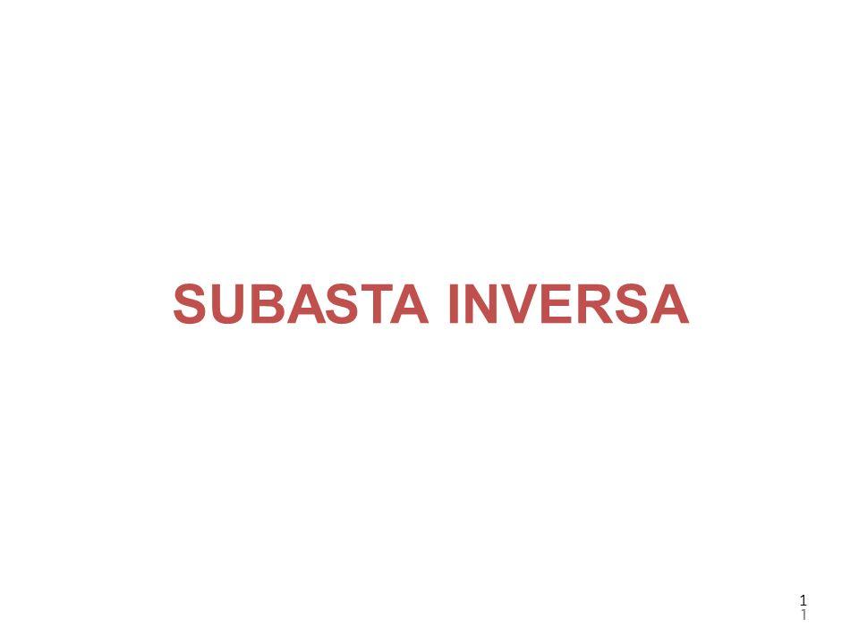 1 1 SUBASTA INVERSA