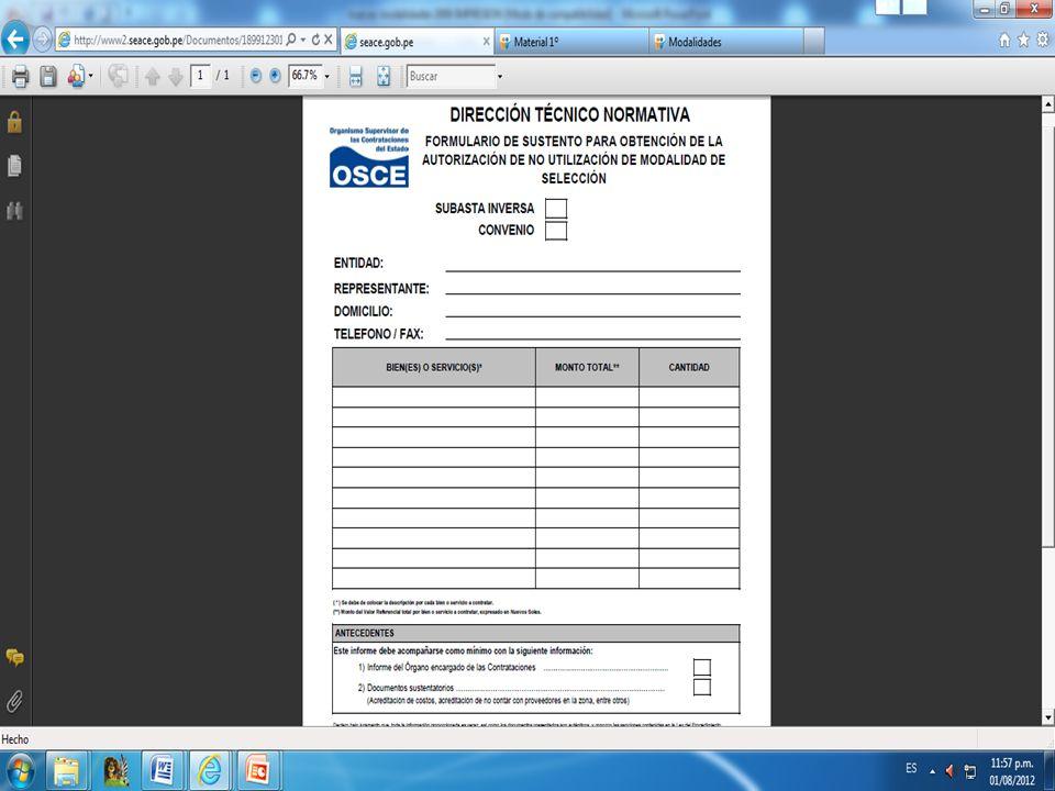 Criterios para determinar los bienes y servicios que se incluirán al Catálogo Contrataciones o adquisiciones frecuentes Cuando sea mas conveniente el suministro periódico.