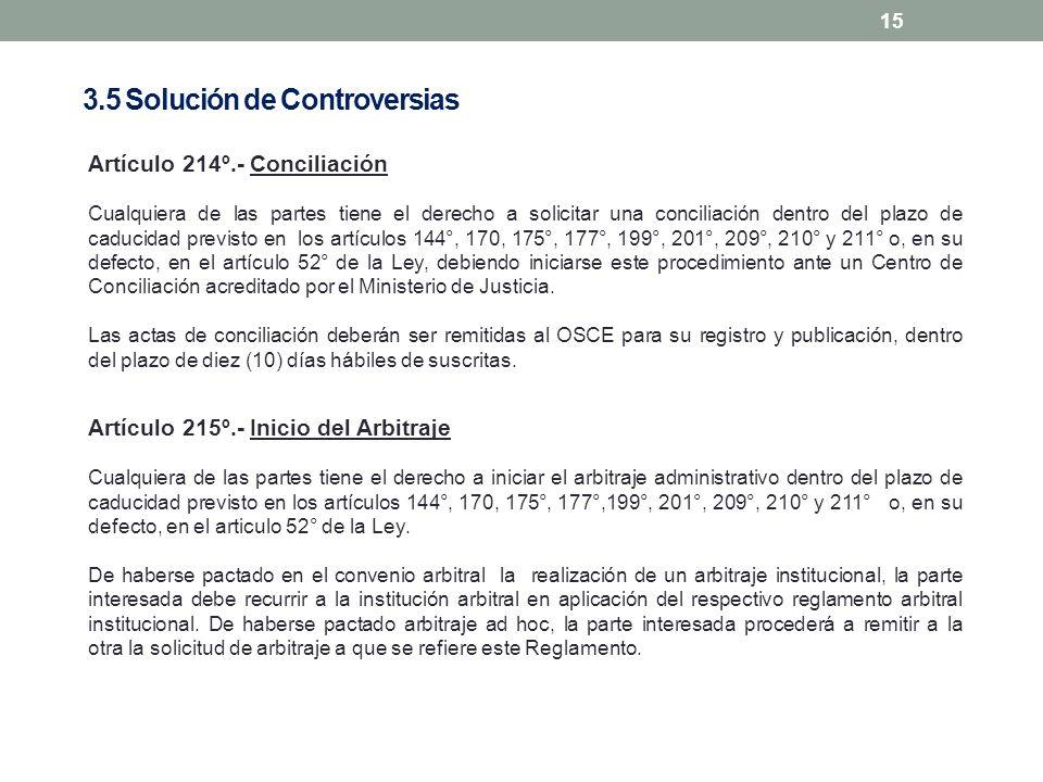 15 Artículo 214º.- Conciliación Cualquiera de las partes tiene el derecho a solicitar una conciliación dentro del plazo de caducidad previsto en los a