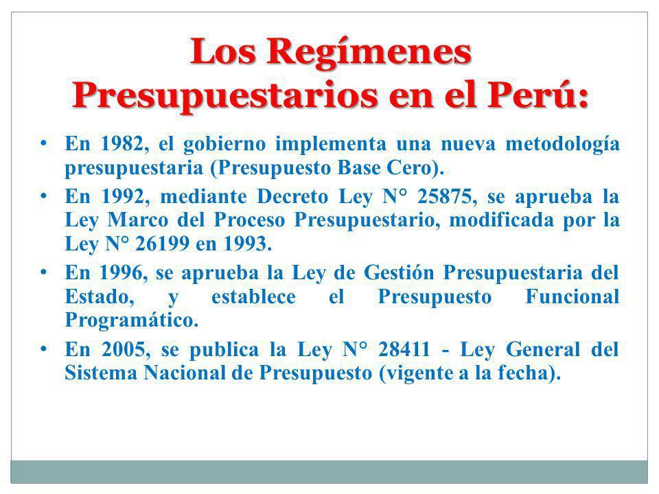 La Normatividad Presupuestaria en el Perú -Constitución Política del Estado Peruano de 1993, Artículos 74°, 75°, 77°, 78° y 80°.