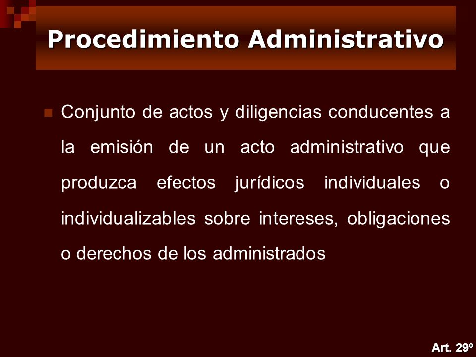 Conjunto de actos y diligencias conducentes a la emisión de un acto administrativo que produzca efectos jurídicos individuales o individualizables sob