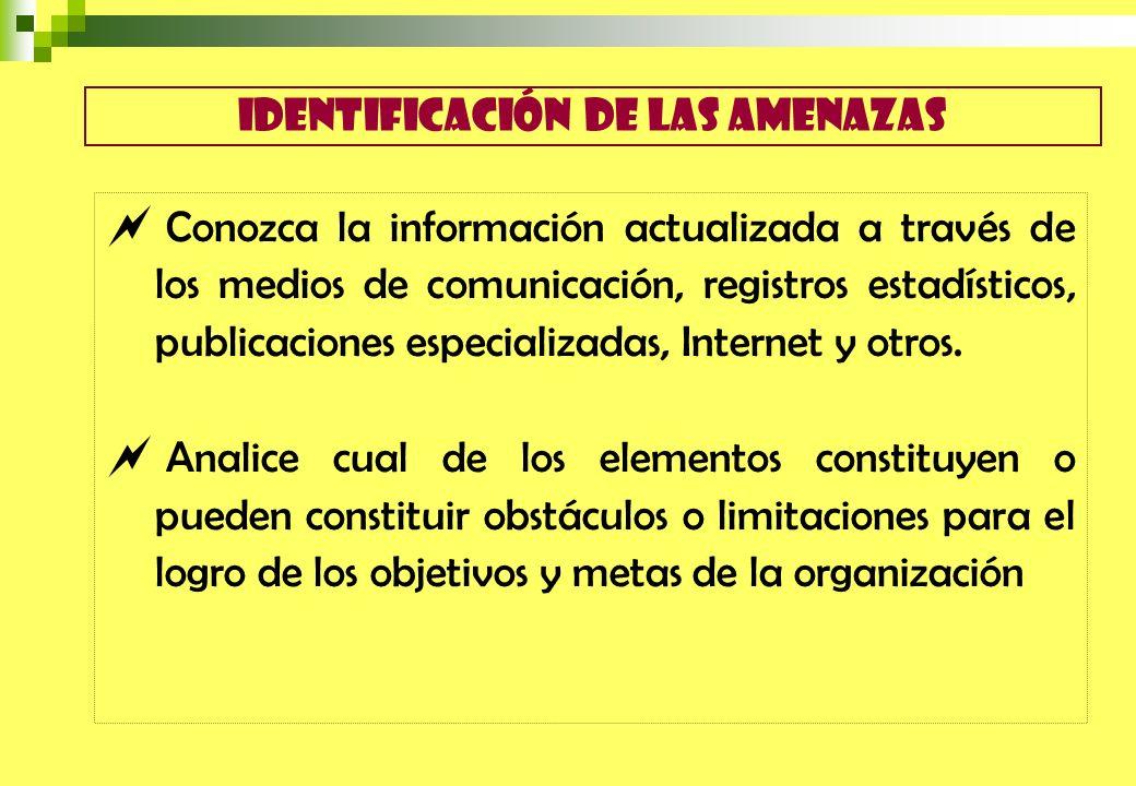 Conozca la información actualizada a través de los medios de comunicación, registros estadísticos, publicaciones especializadas, Internet y otros. Ana