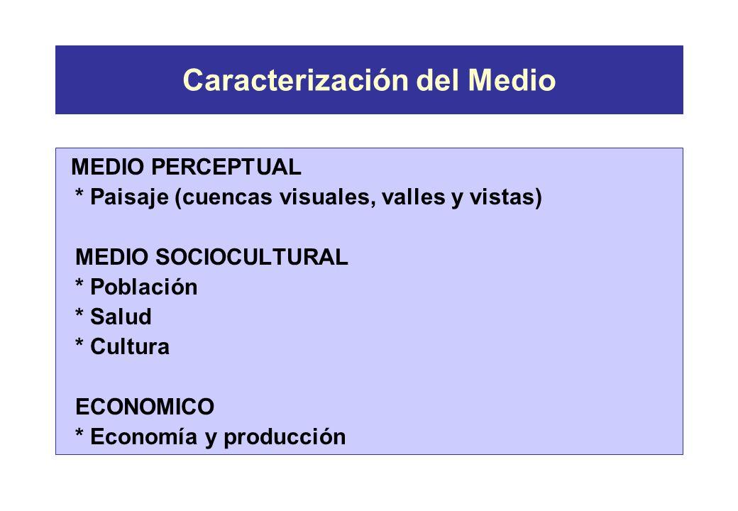 Caracterización del Medio MEDIO FISICO * Suelo: erosión, pérdida de fertilidad, contaminación, compactación * Aire, agua y mar: contaminación MEDIO BI