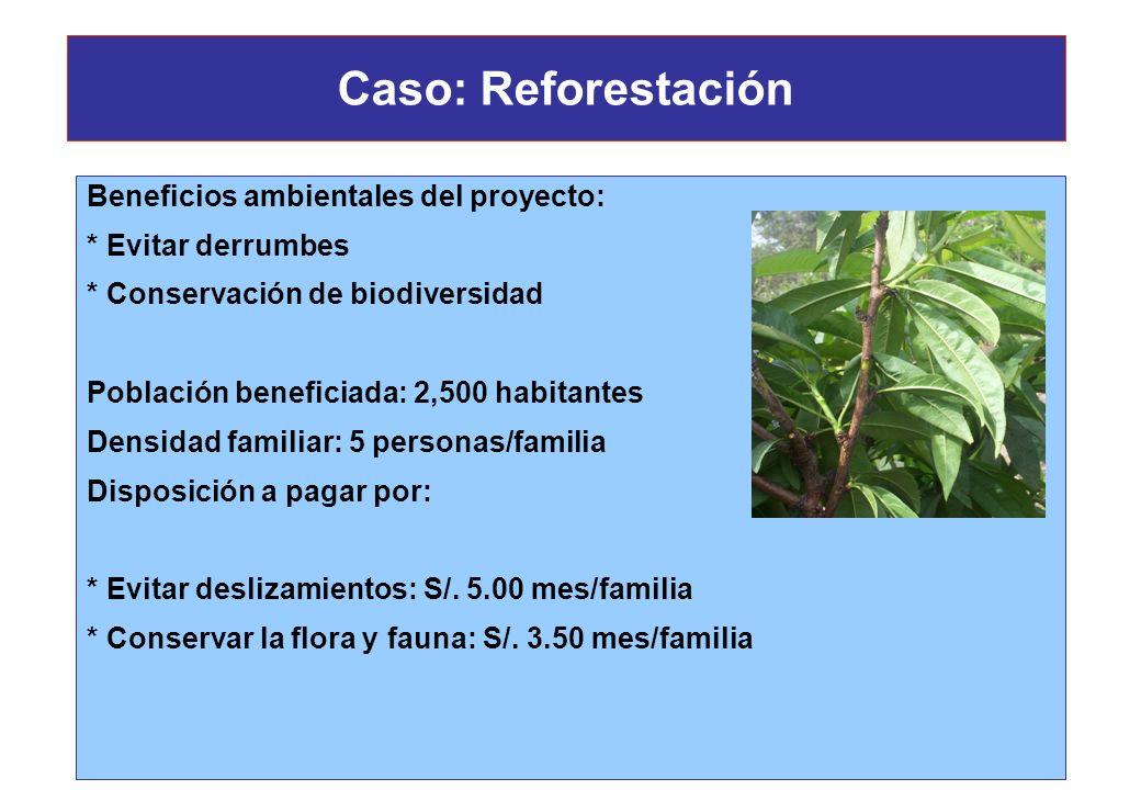 Caso: Planta Hidroeléctrica * Pérdida de áreas de pastoreo En las partes no pobladas de árboles se desarrolla vegetación herbácea estacional, que camp