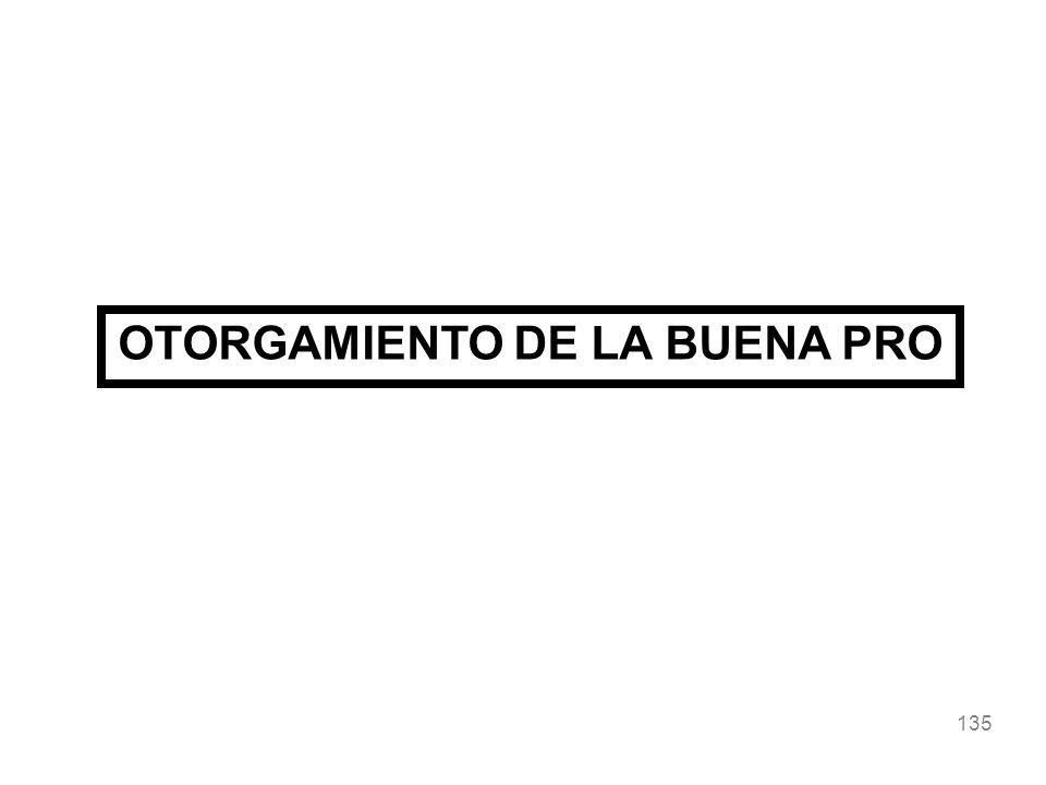 135 OTORGAMIENTO DE LA BUENA PRO