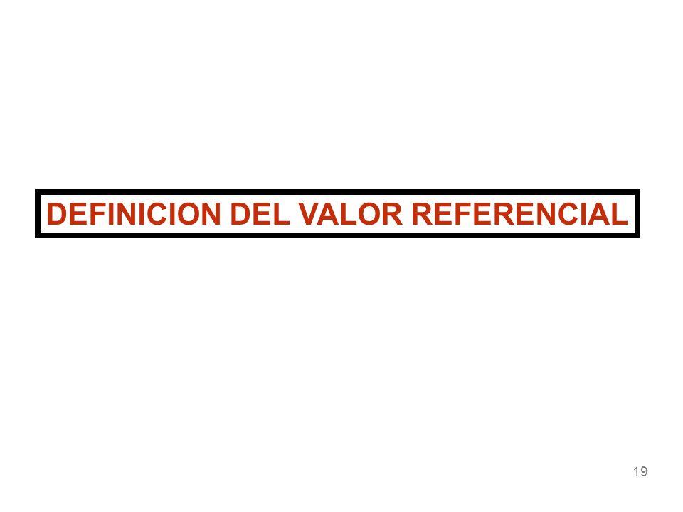 19 DEFINICION DEL VALOR REFERENCIAL