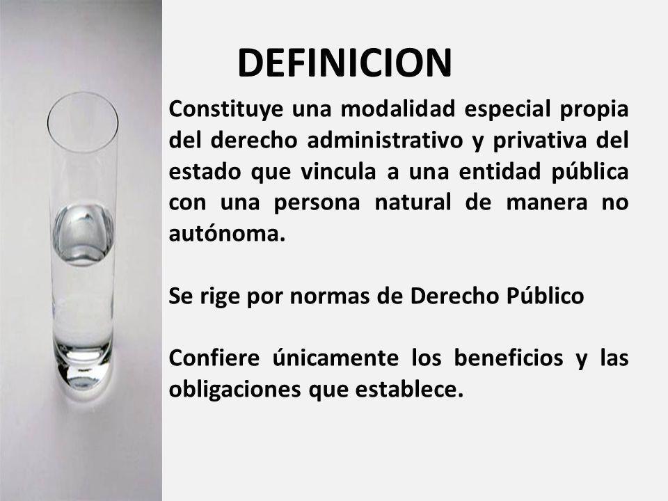 16 Modalidad especial propia del derecho administrativo y privativa del Estado.