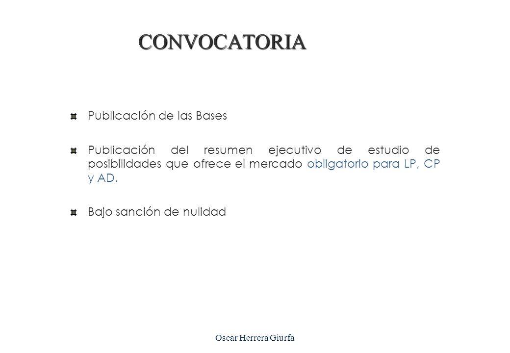 Oscar Herrera Giurfa Licitación Pública Concurso Público Adj. Directa AMC Publicación en el SEACE CONVOCATORIA
