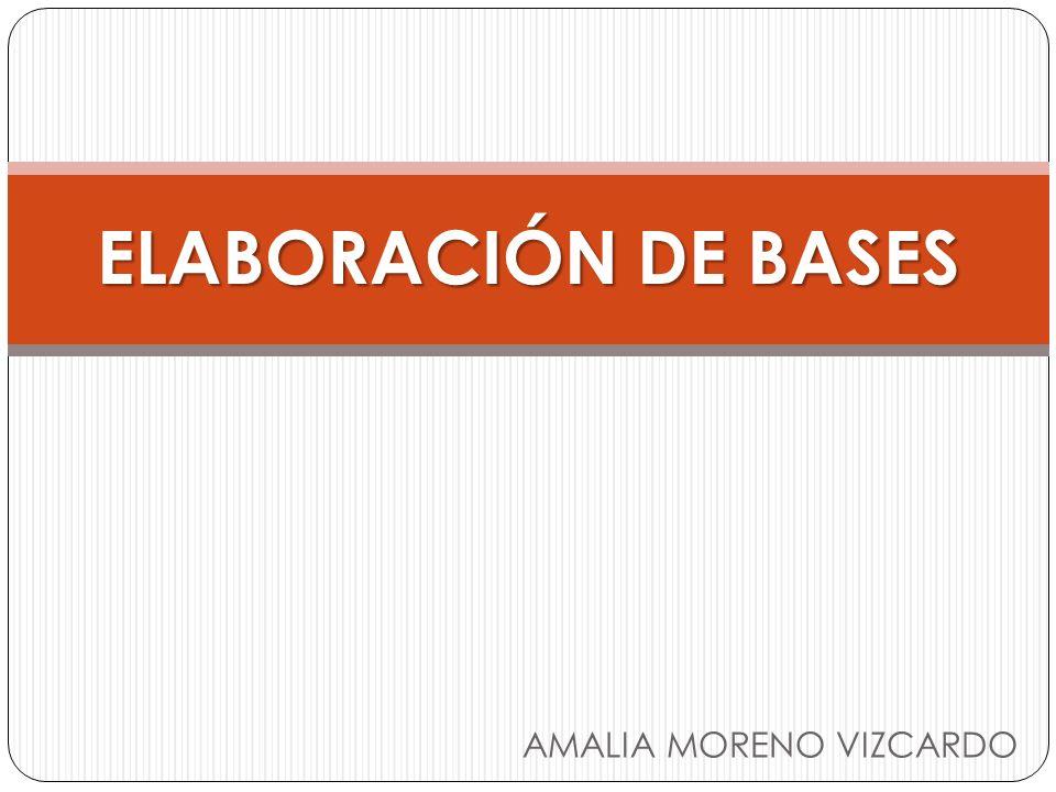 ELABORACIÓN DE BASES AMALIA MORENO VIZCARDO