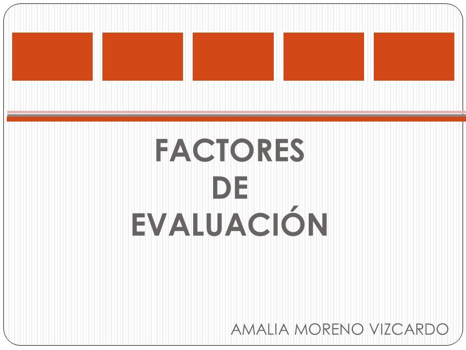 FACTORES DE EVALUACIÓN AMALIA MORENO VIZCARDO