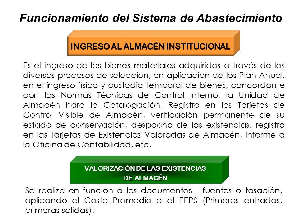 13 Funcionamiento del Sistema de Abastecimiento EJECUCIÓN DE LOS PROCESOS DE SELECCIÓN Para la determinación del proceso de selección se considerará e