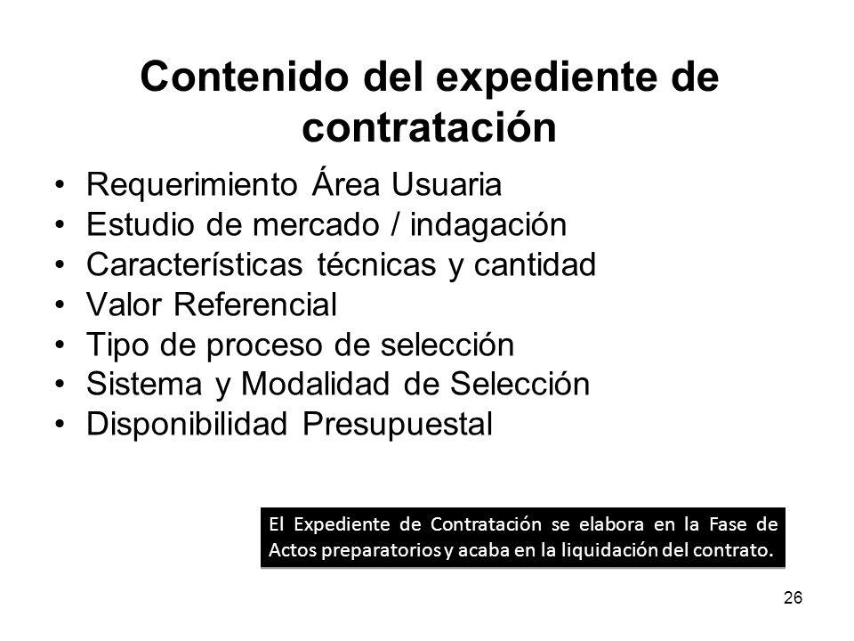 25 Elaboración de Expediente de Contratación NECESIDAD Consolidar en el PAC NECESIDAD Consolidar en el PAC Área Usuaria / Requerimiento OEC Estudios d