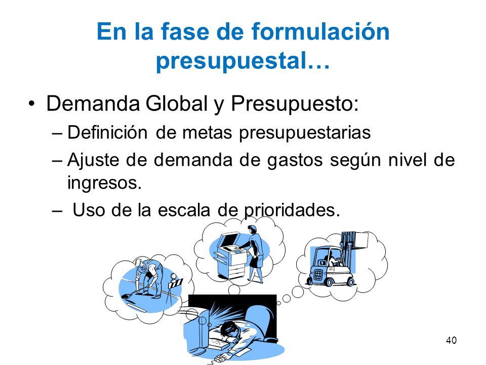 …en la fase de programación Determinación de valores estimados por el Órgano encargado de las Contrataciones: –Resumen de necesidades a nivel global –
